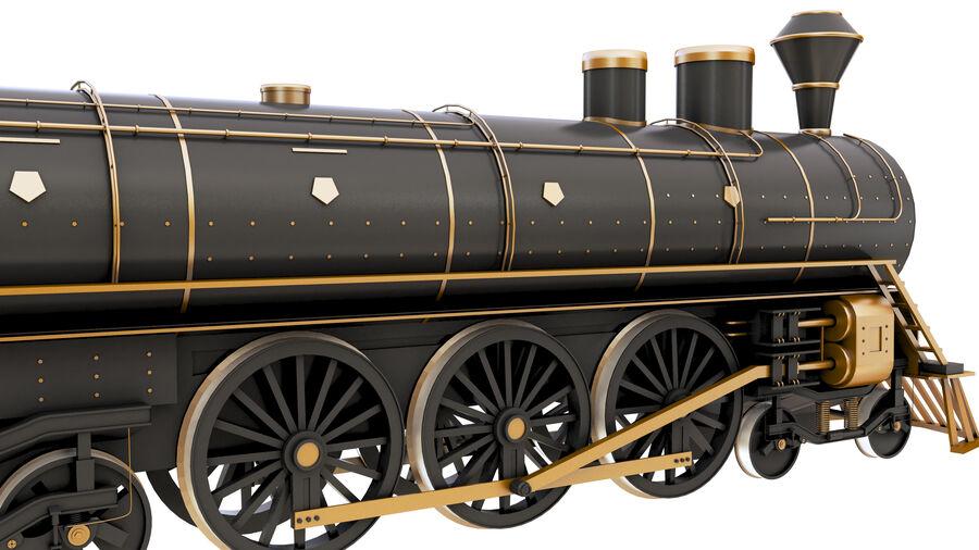 Stora samlingslok och tågvagnar royalty-free 3d model - Preview no. 9