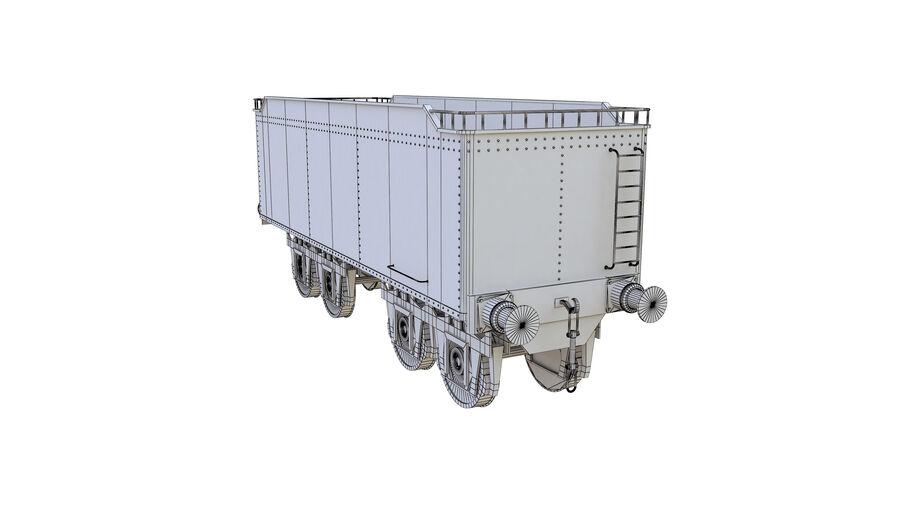 Stora samlingslok och tågvagnar royalty-free 3d model - Preview no. 74