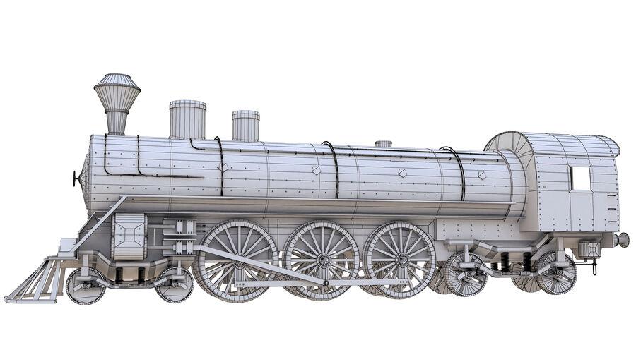 Stora samlingslok och tågvagnar royalty-free 3d model - Preview no. 21