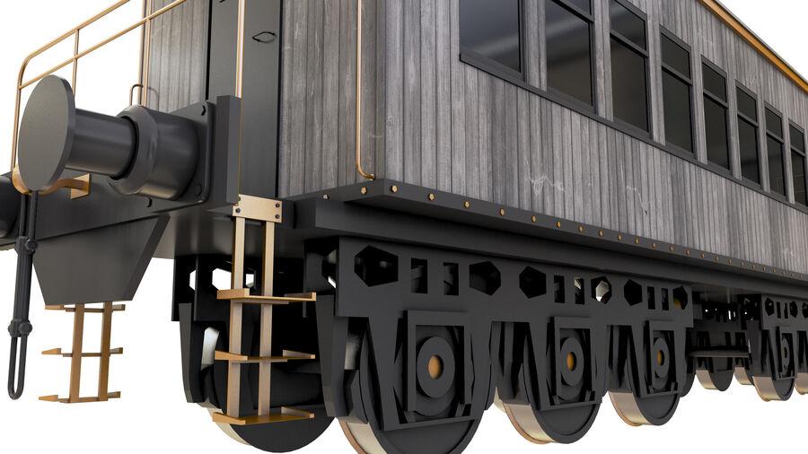 Stora samlingslok och tågvagnar royalty-free 3d model - Preview no. 35