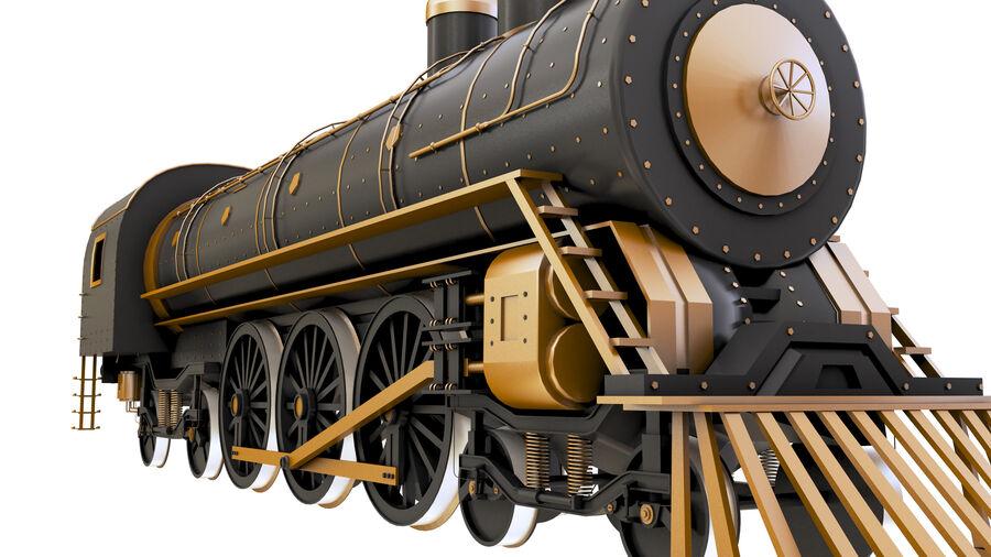 Stora samlingslok och tågvagnar royalty-free 3d model - Preview no. 12