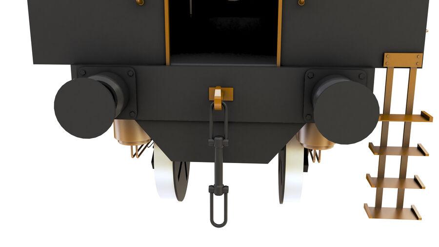 Stora samlingslok och tågvagnar royalty-free 3d model - Preview no. 16