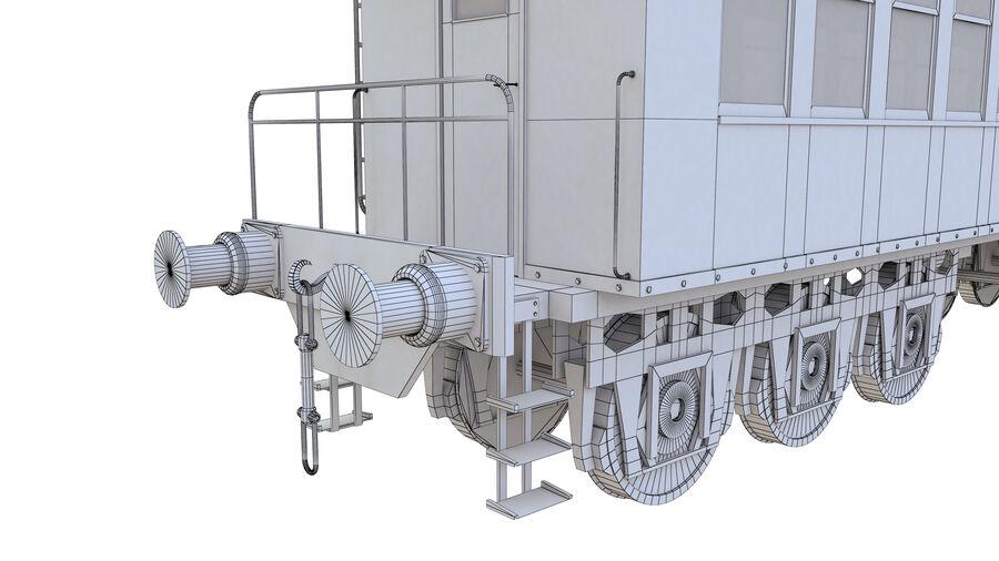 Stora samlingslok och tågvagnar royalty-free 3d model - Preview no. 41