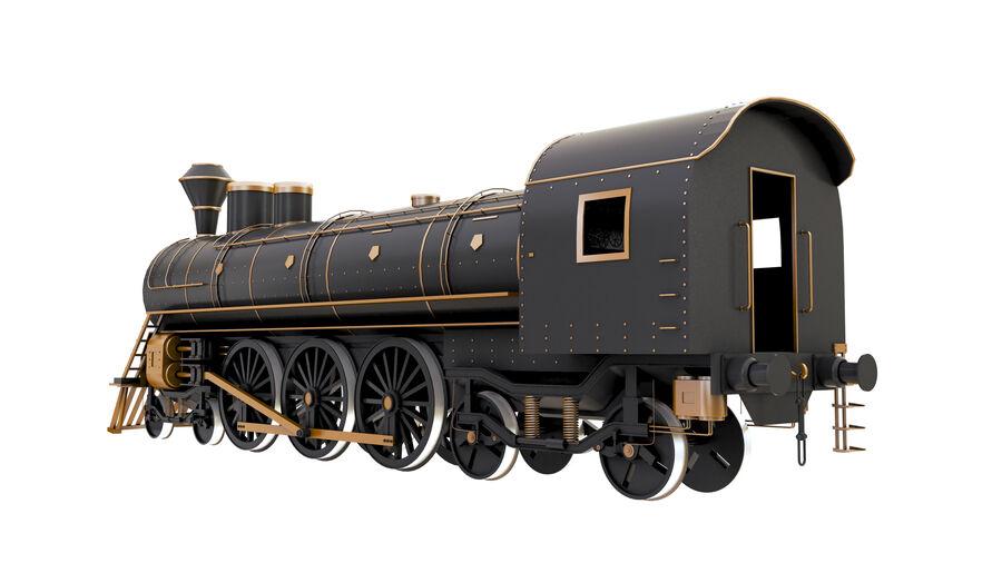 Stora samlingslok och tågvagnar royalty-free 3d model - Preview no. 7