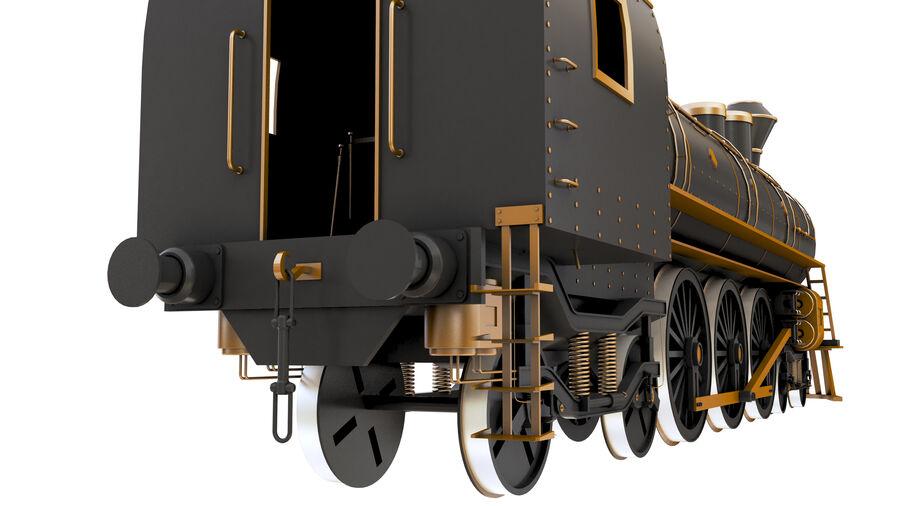 Stora samlingslok och tågvagnar royalty-free 3d model - Preview no. 15