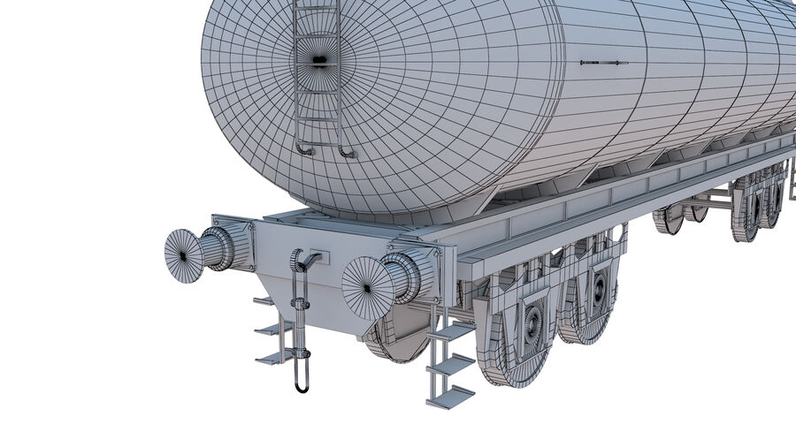 Stora samlingslok och tågvagnar royalty-free 3d model - Preview no. 58