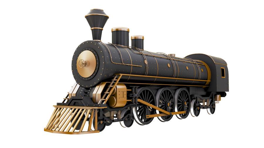 Stora samlingslok och tågvagnar royalty-free 3d model - Preview no. 6