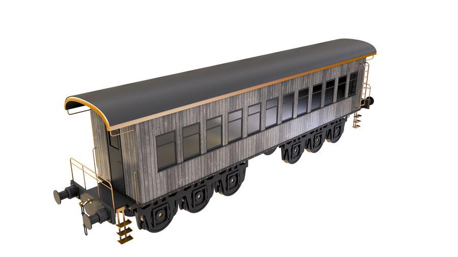 Stora samlingslok och tågvagnar royalty-free 3d model - Preview no. 37