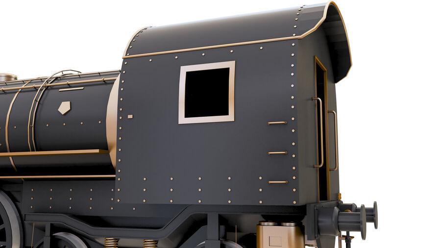 Stora samlingslok och tågvagnar royalty-free 3d model - Preview no. 19