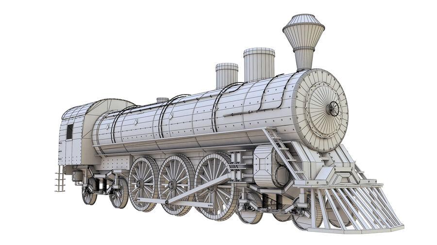 Stora samlingslok och tågvagnar royalty-free 3d model - Preview no. 22