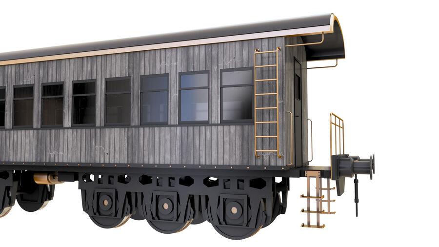 Stora samlingslok och tågvagnar royalty-free 3d model - Preview no. 31