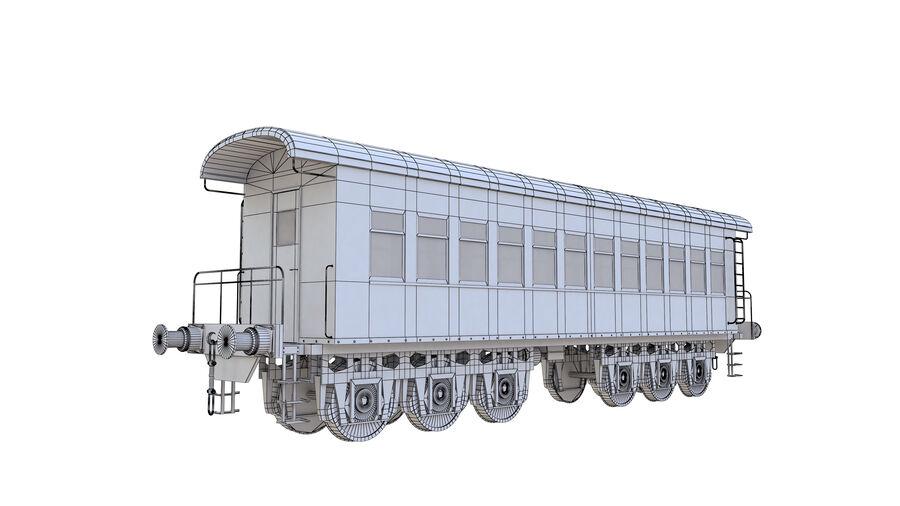 Stora samlingslok och tågvagnar royalty-free 3d model - Preview no. 40