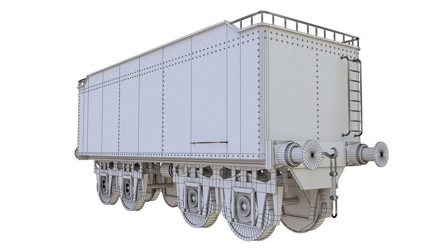 Stora samlingslok och tågvagnar royalty-free 3d model - Preview no. 77