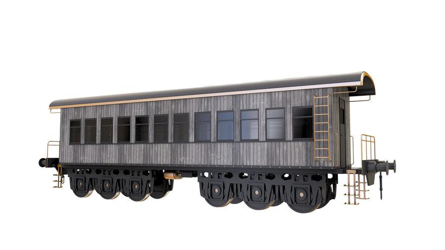 Stora samlingslok och tågvagnar royalty-free 3d model - Preview no. 38