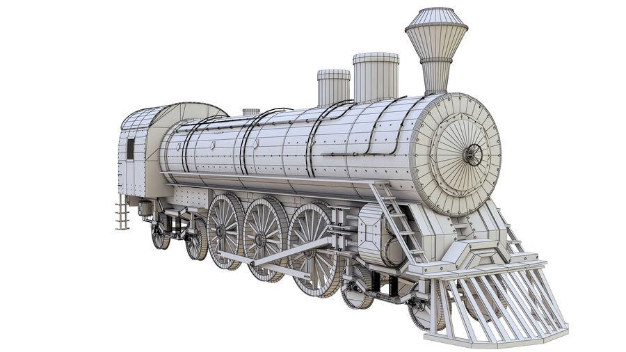Stora samlingslok och tågvagnar royalty-free 3d model - Preview no. 25