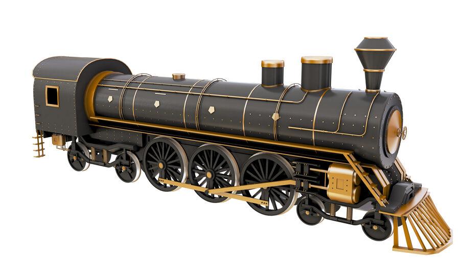 Stora samlingslok och tågvagnar royalty-free 3d model - Preview no. 13
