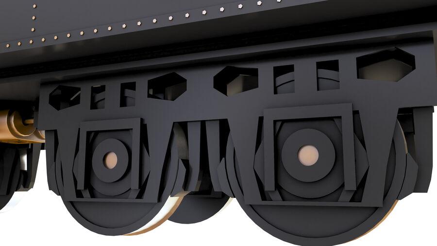 Stora samlingslok och tågvagnar royalty-free 3d model - Preview no. 72