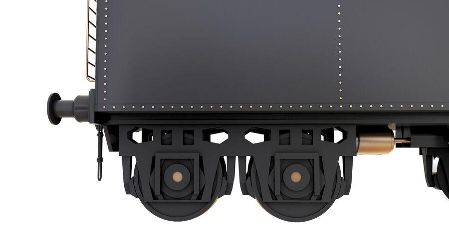 Stora samlingslok och tågvagnar royalty-free 3d model - Preview no. 70