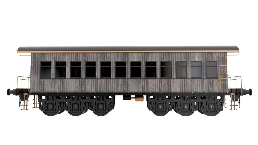 Stora samlingslok och tågvagnar royalty-free 3d model - Preview no. 30