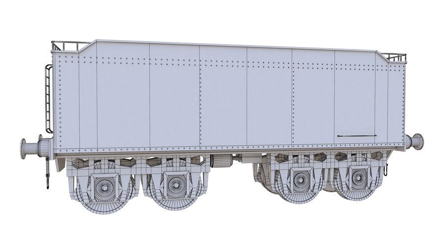 Stora samlingslok och tågvagnar royalty-free 3d model - Preview no. 75
