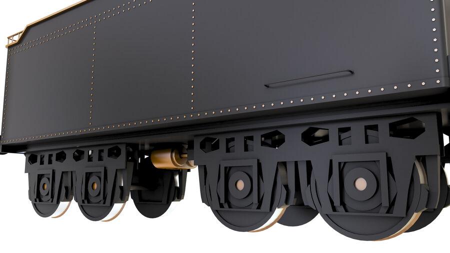 Stora samlingslok och tågvagnar royalty-free 3d model - Preview no. 71