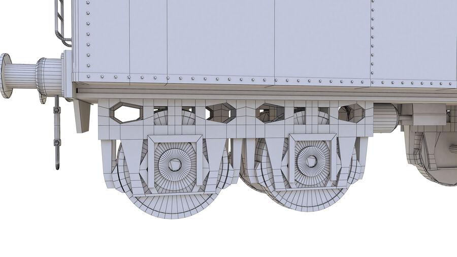 Stora samlingslok och tågvagnar royalty-free 3d model - Preview no. 76