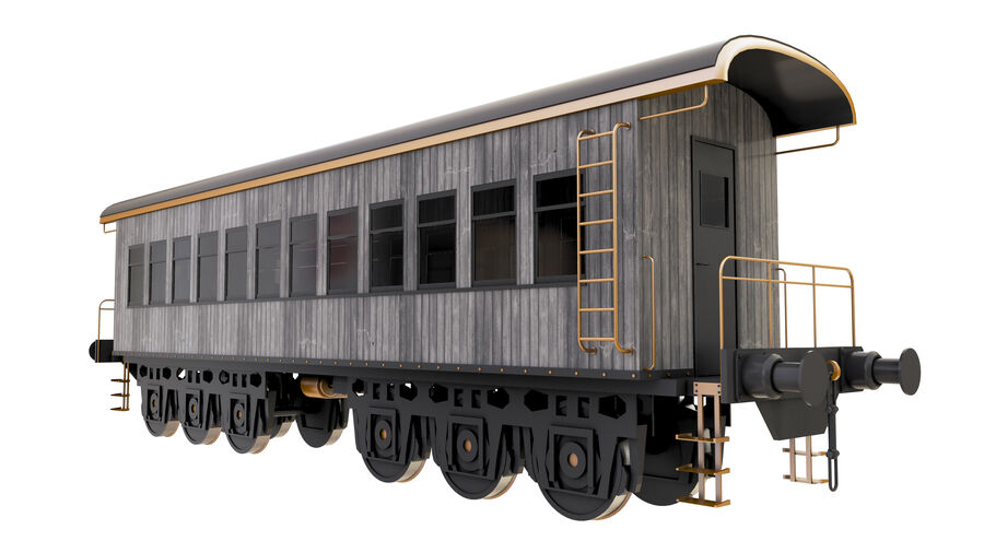 Stora samlingslok och tågvagnar royalty-free 3d model - Preview no. 3