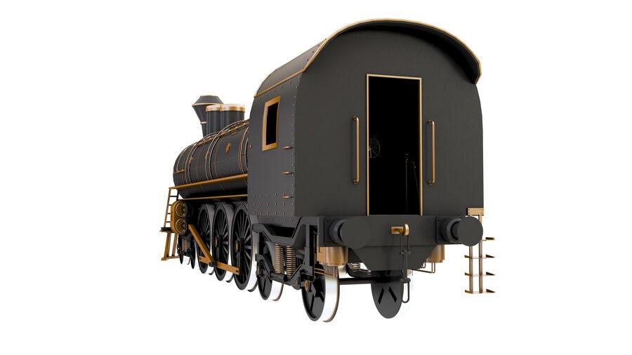 Stora samlingslok och tågvagnar royalty-free 3d model - Preview no. 10