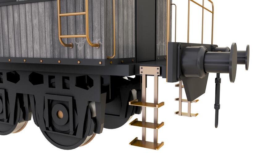 Stora samlingslok och tågvagnar royalty-free 3d model - Preview no. 32