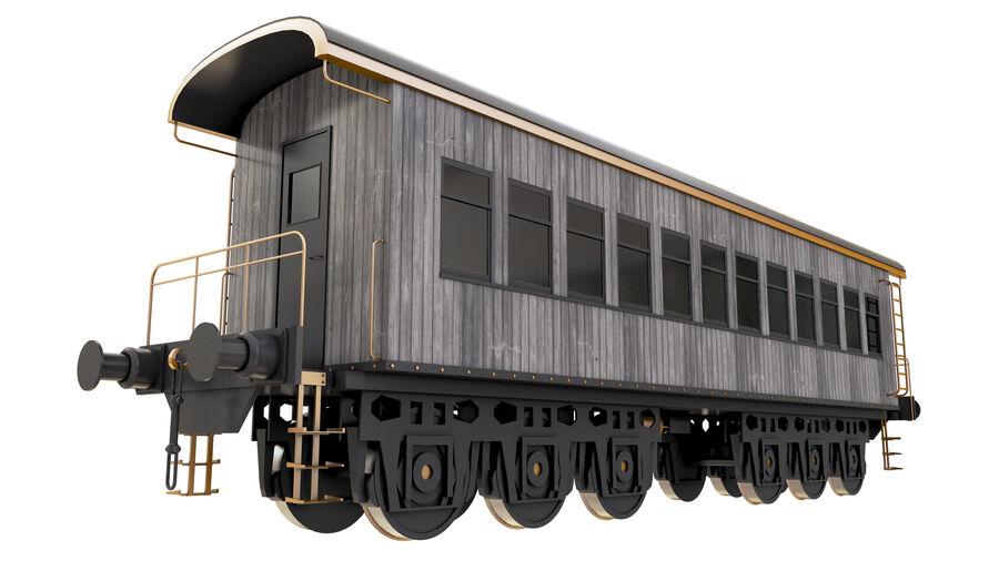 Stora samlingslok och tågvagnar royalty-free 3d model - Preview no. 36
