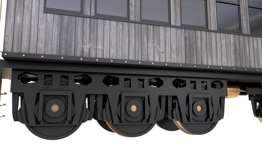Stora samlingslok och tågvagnar royalty-free 3d model - Preview no. 34