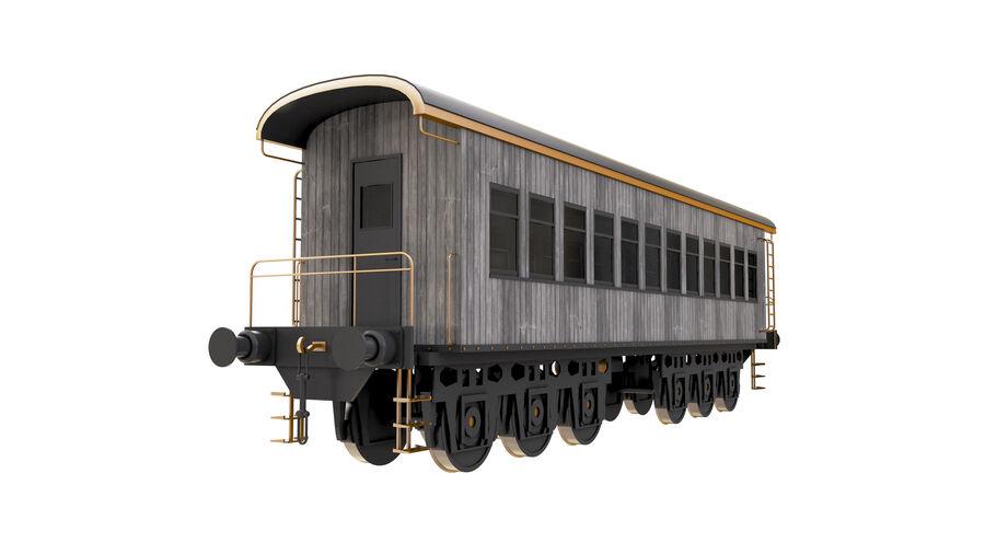 Stora samlingslok och tågvagnar royalty-free 3d model - Preview no. 29