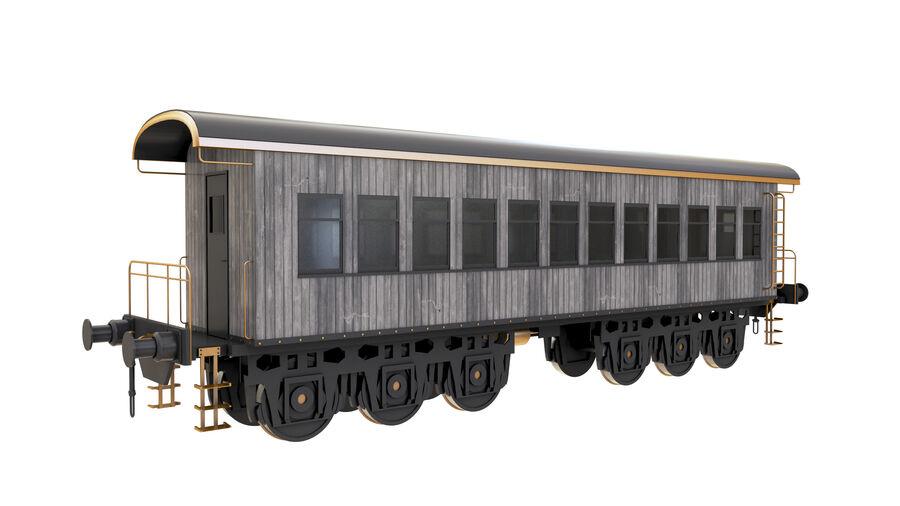 Stora samlingslok och tågvagnar royalty-free 3d model - Preview no. 28