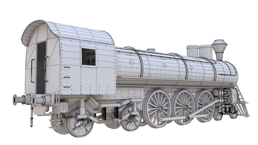 Stora samlingslok och tågvagnar royalty-free 3d model - Preview no. 23