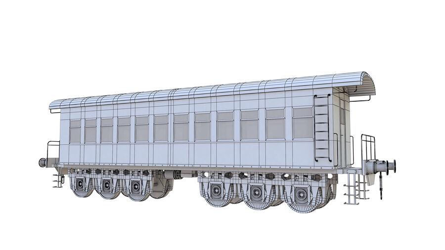 Stora samlingslok och tågvagnar royalty-free 3d model - Preview no. 39