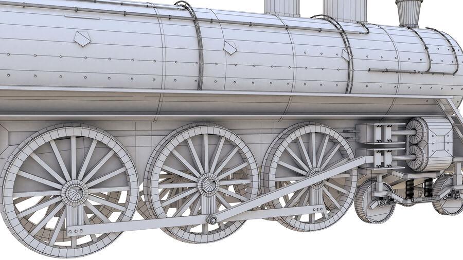 Stora samlingslok och tågvagnar royalty-free 3d model - Preview no. 24