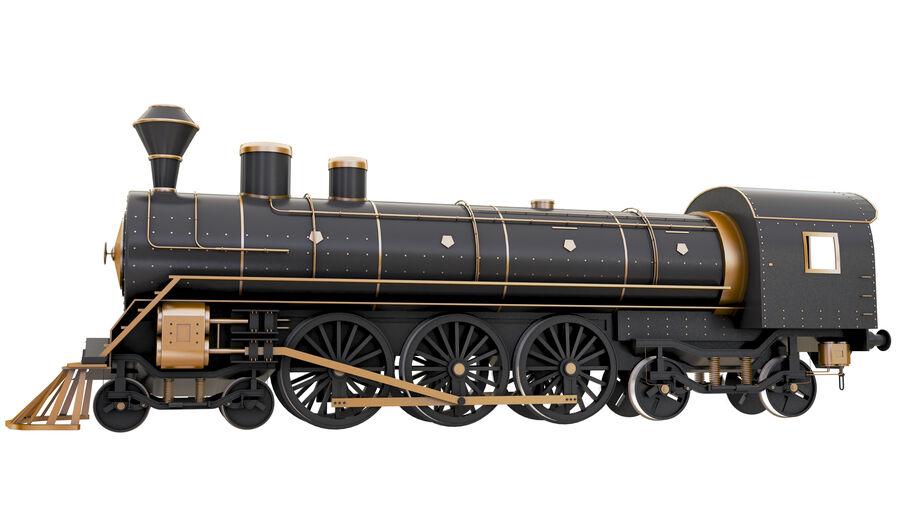 Stora samlingslok och tågvagnar royalty-free 3d model - Preview no. 20