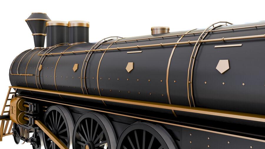 Stora samlingslok och tågvagnar royalty-free 3d model - Preview no. 17