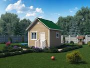 Holzhaus 4x4 Meter 3d model