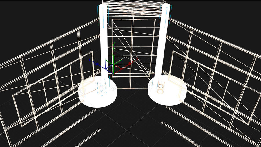 STUDIO POKAZU I SPORTU royalty-free 3d model - Preview no. 7