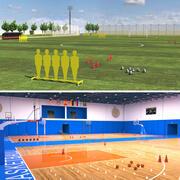 스포츠 시설 3d model
