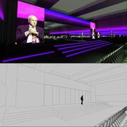 Salle de réunion de l'hôtel6 3d model