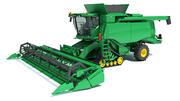 Tracked Combine Harvester 3d model