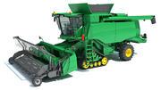 Green Combine Harvester 3d model