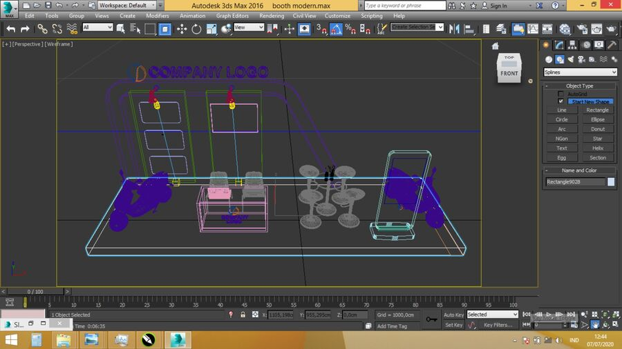 Booth exhibition royalty-free 3d model - Preview no. 15
