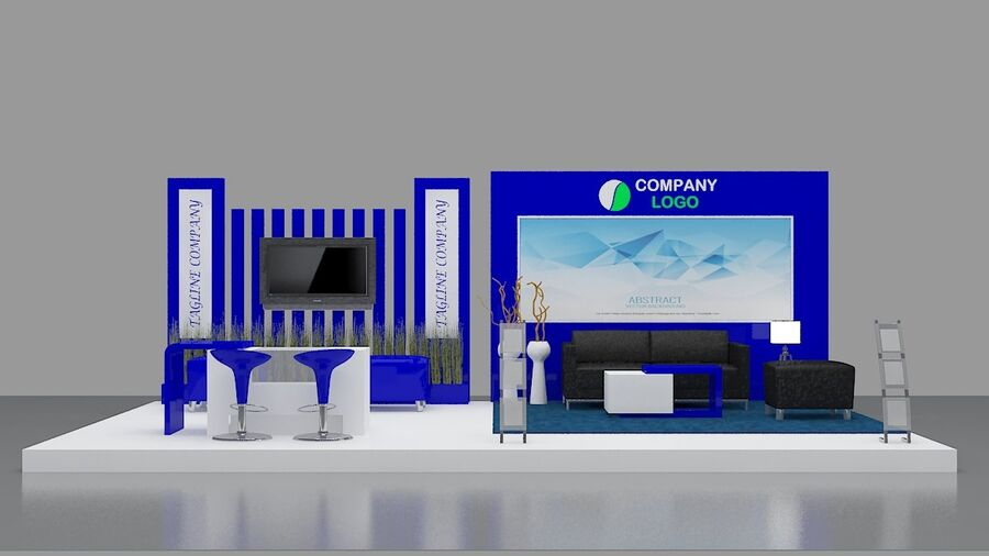 Booth exhibition royalty-free 3d model - Preview no. 7