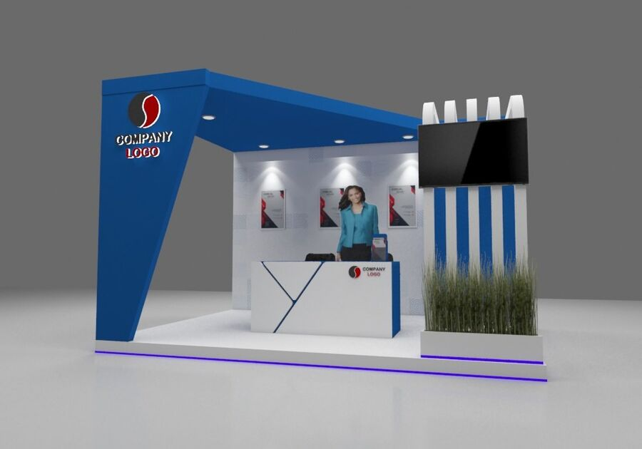 Booth exhibition royalty-free 3d model - Preview no. 5