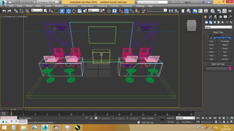 Booth exhibition royalty-free 3d model - Preview no. 12