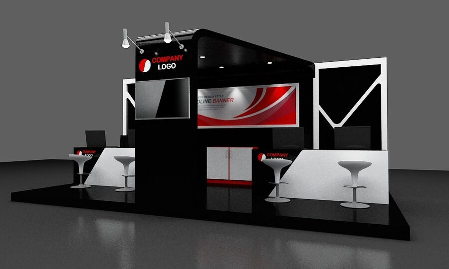 Booth exhibition royalty-free 3d model - Preview no. 16