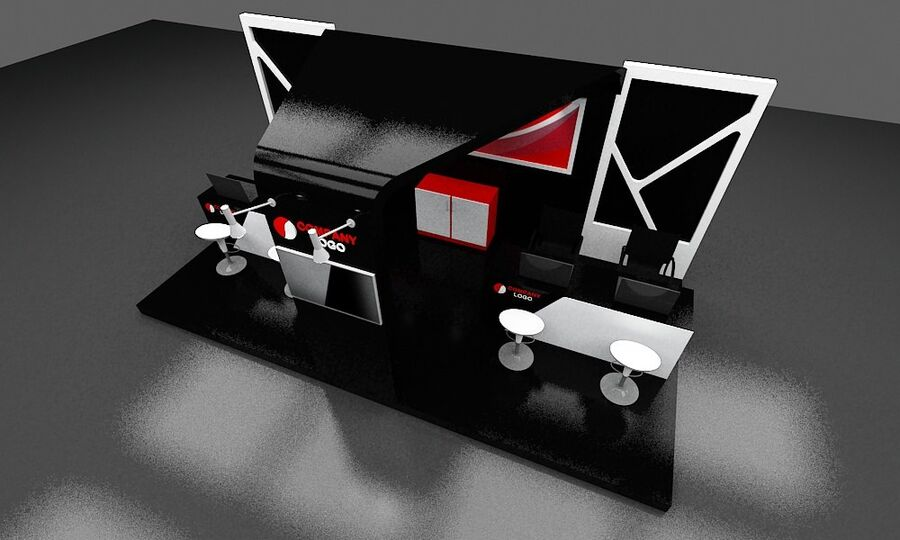 Booth exhibition royalty-free 3d model - Preview no. 17